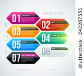 set of 6 colorful banners on... | Shutterstock .eps vector #242207551