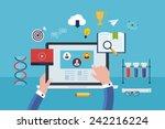 flat design modern vector...   Shutterstock .eps vector #242216224