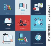 set of icons for education... | Shutterstock .eps vector #242216227