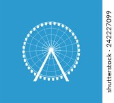 ferris wheel icon  isolated ... | Shutterstock .eps vector #242227099