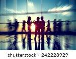 business people meeting seminar ... | Shutterstock . vector #242228929