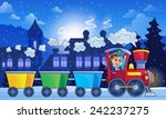 winter town with train   eps10... | Shutterstock .eps vector #242237275