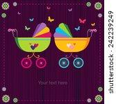 cute baby strollers | Shutterstock .eps vector #242239249