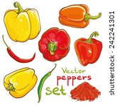 vector illustration of peppers  ... | Shutterstock .eps vector #242241301
