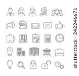 vector business and... | Shutterstock .eps vector #242246671