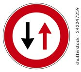 road sign set   Shutterstock .eps vector #242247259