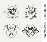 set of extreme sports emblems ... | Shutterstock . vector #242258335