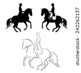 set of 3 silhouettes of... | Shutterstock .eps vector #242262157
