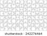 96 jigsaw puzzle blank template ... | Shutterstock .eps vector #242276464