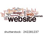 website word cloud concept with ...