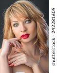 beautiful bride   Shutterstock . vector #242281609
