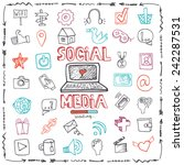 social media word and icons in... | Shutterstock .eps vector #242287531