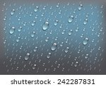 rain on glass. water drops...