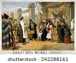 1882 poster for michael... | Shutterstock . vector #242288161