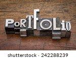 portfolio  word in mixed... | Shutterstock . vector #242288239