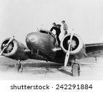 amelia earhart on wing of her... | Shutterstock . vector #242291884