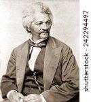 Frederick Douglass (1818-1895), former slave and abolitionist broke whites