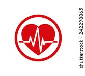 cardiology icon with heart and... | Shutterstock .eps vector #242298865