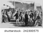 the civil war. new yorkers in... | Shutterstock . vector #242300575