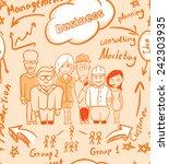 corporate seamless design... | Shutterstock .eps vector #242303935