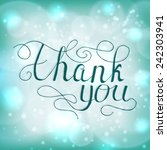 thank you vector card with hand ... | Shutterstock .eps vector #242303941