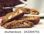 Almond Biscuits With Cup Of...