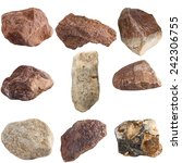 set of stones isolated on white ... | Shutterstock . vector #242306755