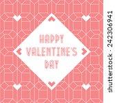 happy valentines day vintage... | Shutterstock .eps vector #242306941