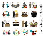 meeting icons set with business ... | Shutterstock .eps vector #242307037