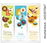 spring vertical decorative... | Shutterstock .eps vector #242307067