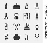 cosmetics black icons on white... | Shutterstock .eps vector #242307361