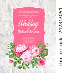 wedding card and engagement... | Shutterstock .eps vector #242316091