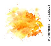 watercolor stains on white... | Shutterstock .eps vector #242320225