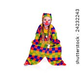 young girl as jester on white... | Shutterstock . vector #24232243