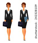 elegant business woman with... | Shutterstock .eps vector #242328109