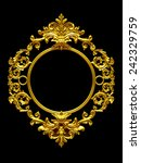 frame with baroque ornaments in ... | Shutterstock . vector #242329759