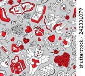 seamless cartoon vector pattern ... | Shutterstock .eps vector #242331079