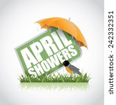 April Showers Icon Eps 10...