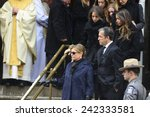 Small photo of NEW YORK CITY - JANUARY 6 2015: funeral services were held for former New York governor Mario Cuomo at St. Ignatius Loyola Church on Manhattan's Upper East Side. Actress Dianne Wiest leaving church