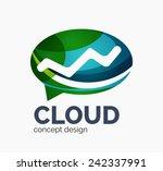 modern cloud company logo... | Shutterstock . vector #242337991