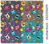 pattern monsters  | Shutterstock .eps vector #242350699