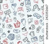 social media icons seamless... | Shutterstock .eps vector #242352667