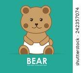bear cute | Shutterstock .eps vector #242357074