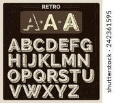 scratched vintage vector latin... | Shutterstock .eps vector #242361595