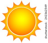 sun icon | Shutterstock .eps vector #242362549