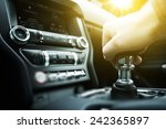 car drive manual shifting... | Shutterstock . vector #242365897
