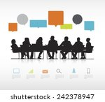 social business gathering | Shutterstock .eps vector #242378947