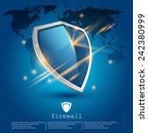 firewall shield  data... | Shutterstock .eps vector #242380999
