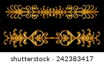 ornament elements  vintage gold ... | Shutterstock . vector #242383417