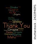 colorful thank you word cloud | Shutterstock . vector #242394091